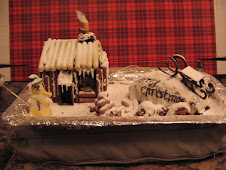The cake. There's a cabin + light, a sledge, logs, and even a snowman to make the place welcoming.