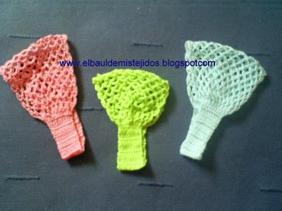 El Baúl de mis Tejidos: Cintillos a crochet