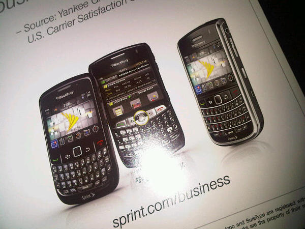 BlackBerry Bold 9650 Sprint Ad Shows Up In WES 2010 Promo Notebook