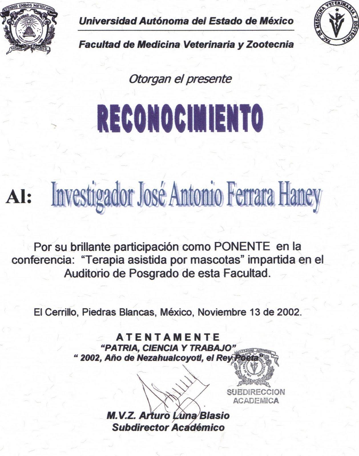 de medicina veterinaria y zootecnia de la universidad autonoma del
