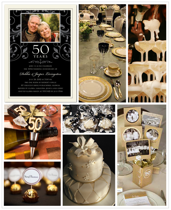 The simply sophisticated events blog 50th anniversary for 50th wedding anniversary party decoration ideas