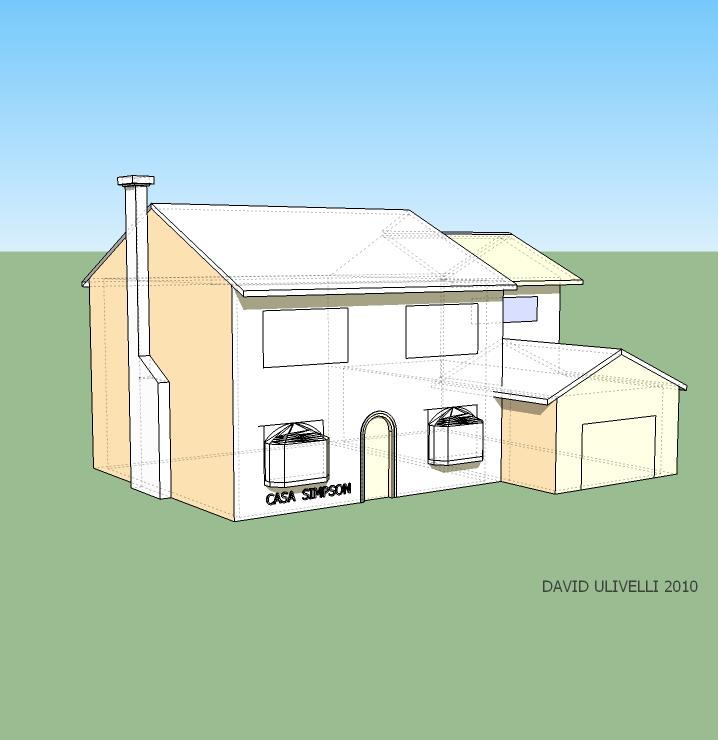 Ilfotocane disegno con sketchup della casa dei simpson for Disegno della casa