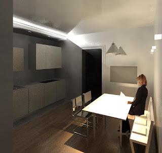 Ilfotocane progetto di interno cucina e elemento in - Illuminazione bagno soffitto ...