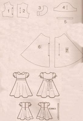 Ref  127   Molde De Vestidos Infantis