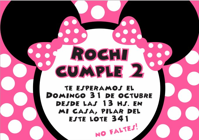 Invitaciónes para baby shower Minnie Mouse - Imagui