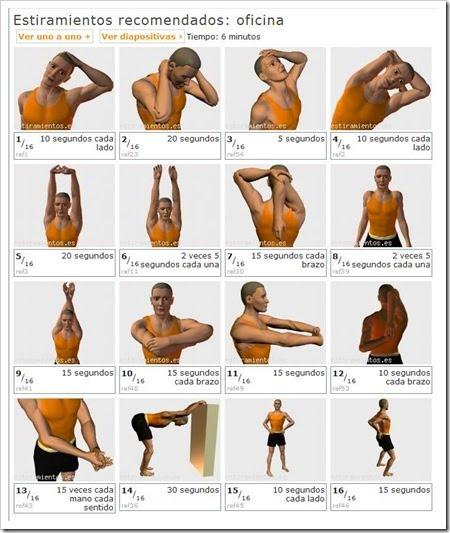 Ergonom a para la salud pausas descansos ejercicios y for Ergonomia en el trabajo de oficina
