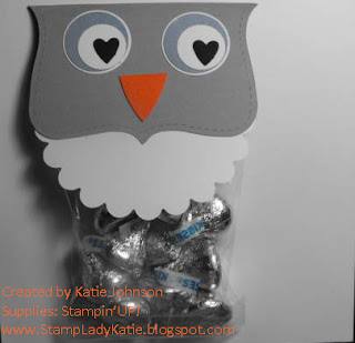 Owl Treat Bag for Valentine's Day made with Big Shot Dies