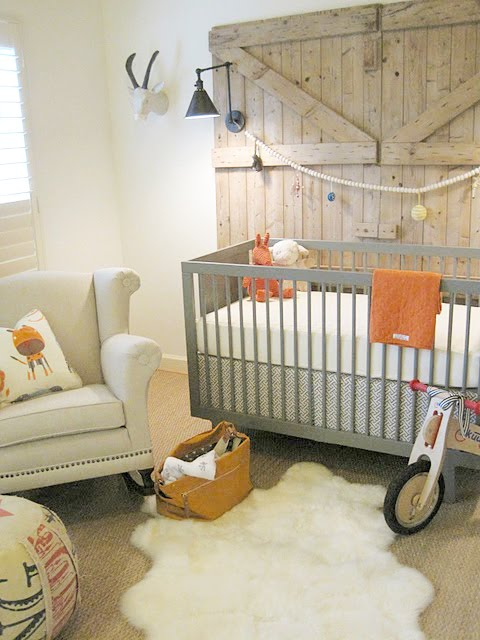 rustic nursery from sherry hart designs