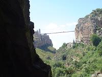 Balade Cirtéenne : depuis les gorges du rhumel sous le pont EL KANTARA, vue du pont de Sidi M'Cid