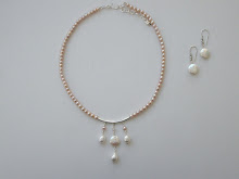 Freshwater pearl necklace with coin pearl pendant $120