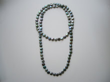 4 feet of continuous Coin pearls $210