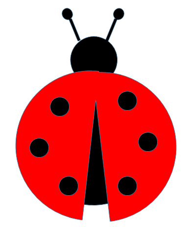 paper and free ladybug