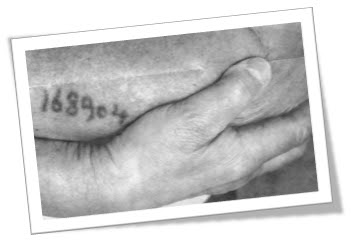 Photo of an arm with a Nazi concentration camp number