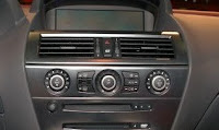 Photo of a radio inside the van