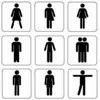 """Bathroom Sign Person girl noted - feminist theory inspired musings: """"wrong bathroom"""