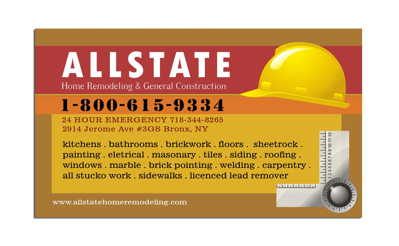 Free Construction Business Card Templates Business Card Sample - Construction business card template