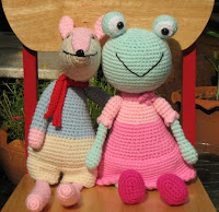 frog and fox, amigurumi, crochet patterns