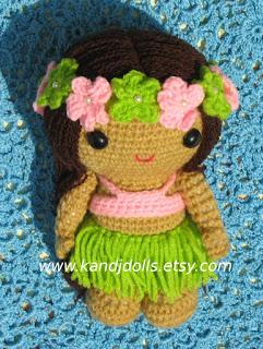 Amigurumi pattern for Hawaiian girl
