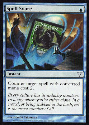 Spell Snare altered magic the gathering artwork Toni Micol altered art