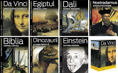 Cotidianul - Editura enciclopedica: Da Vinci, Egiptul, Dali, Nostradamus, Biblia, Dinozaurii, Einstein
