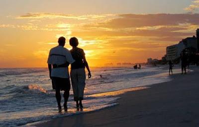 indragostiti, luna de miere, apus, plaja, sunset, sea, spa