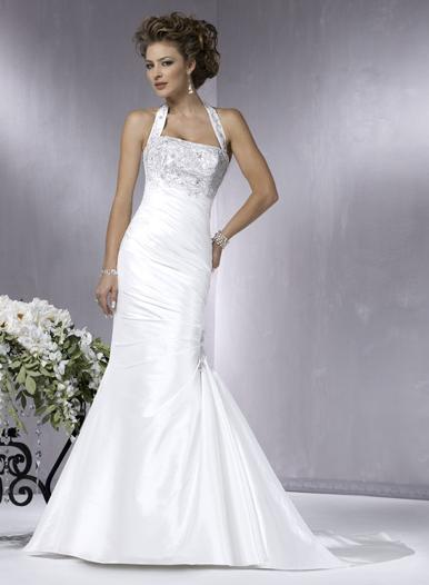 halter mermaid wedding dresses
