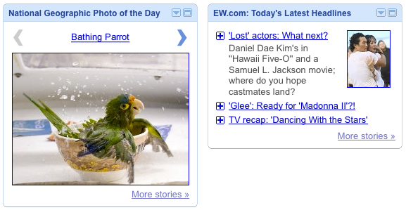 Slideshow and Headline and lead story views