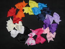 Bows all Different Colors, Textures, and Styles