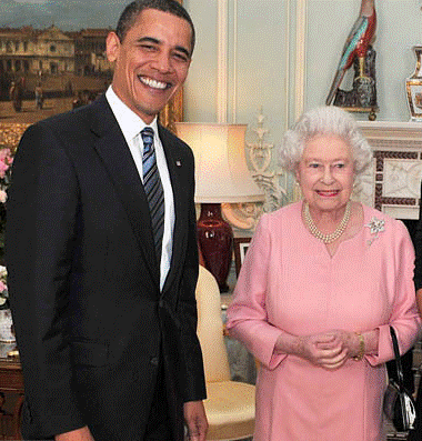 Queen and Obama