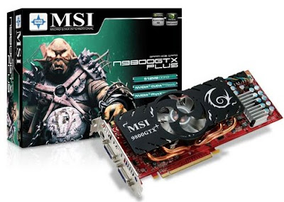 MSI N9800GTX PLUS-T2D512-OC video card