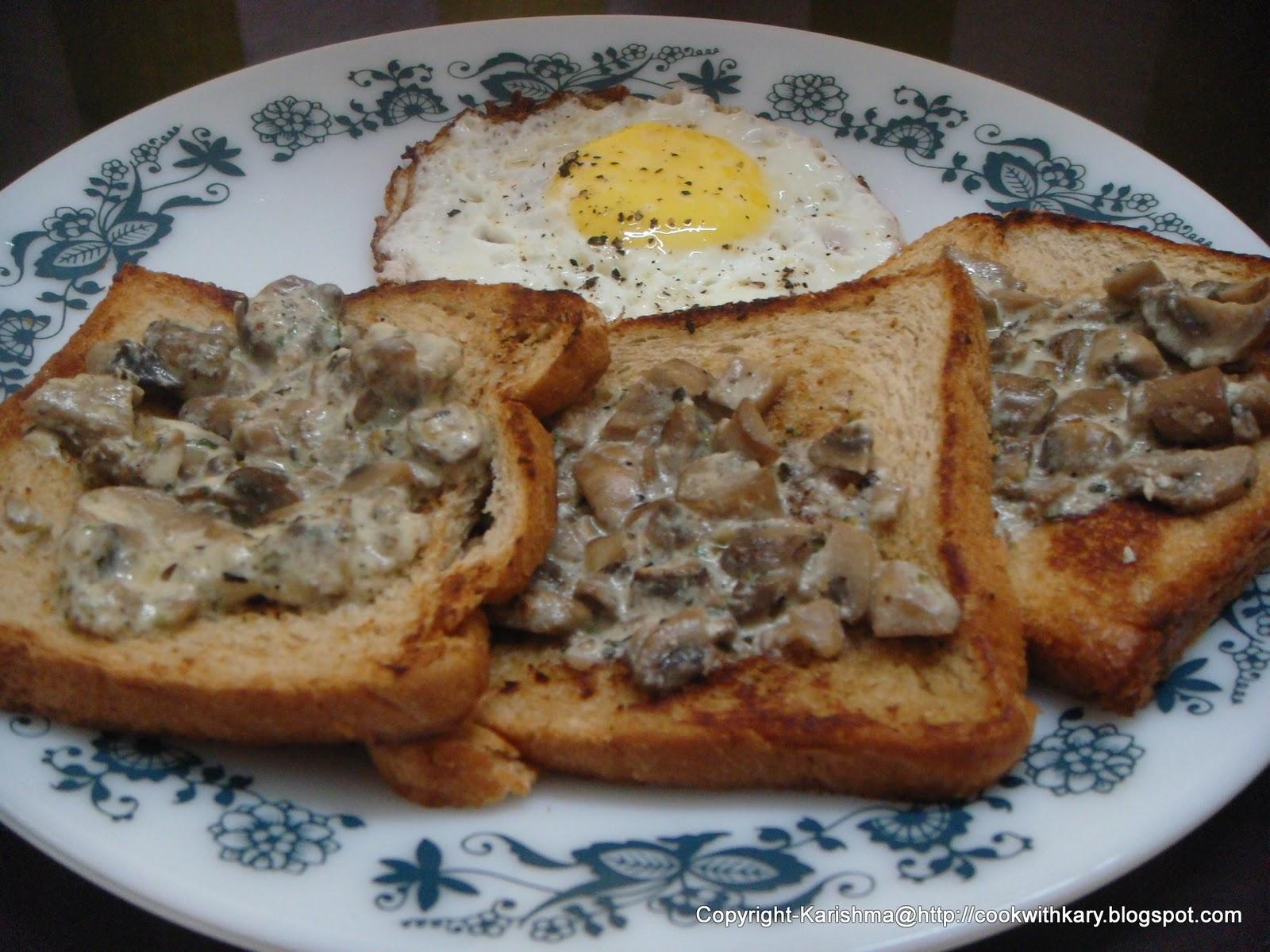 Effortless cooking. Easy baking.: Creamy Mushrooms-On-Toast