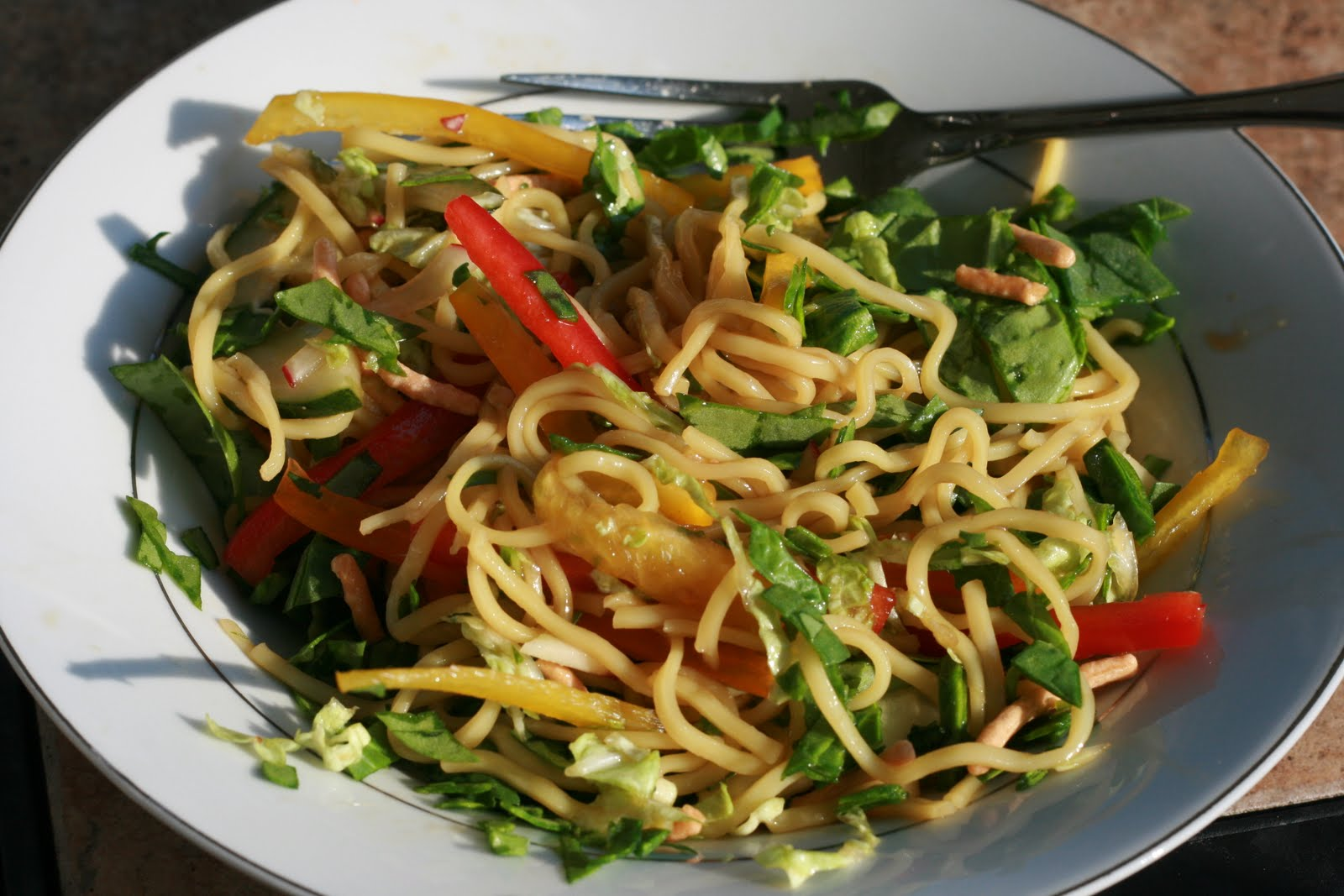 how to cook noodle salad