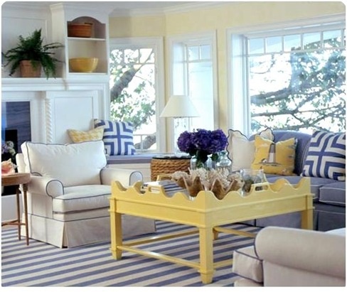 Jpm Design Blue White Striped Rugs