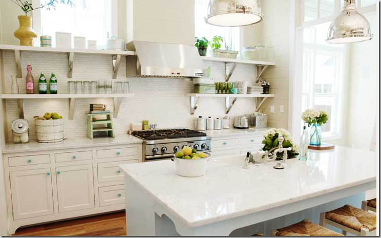 Jpm design open shelving in the kitchen for Open style kitchen cabinets