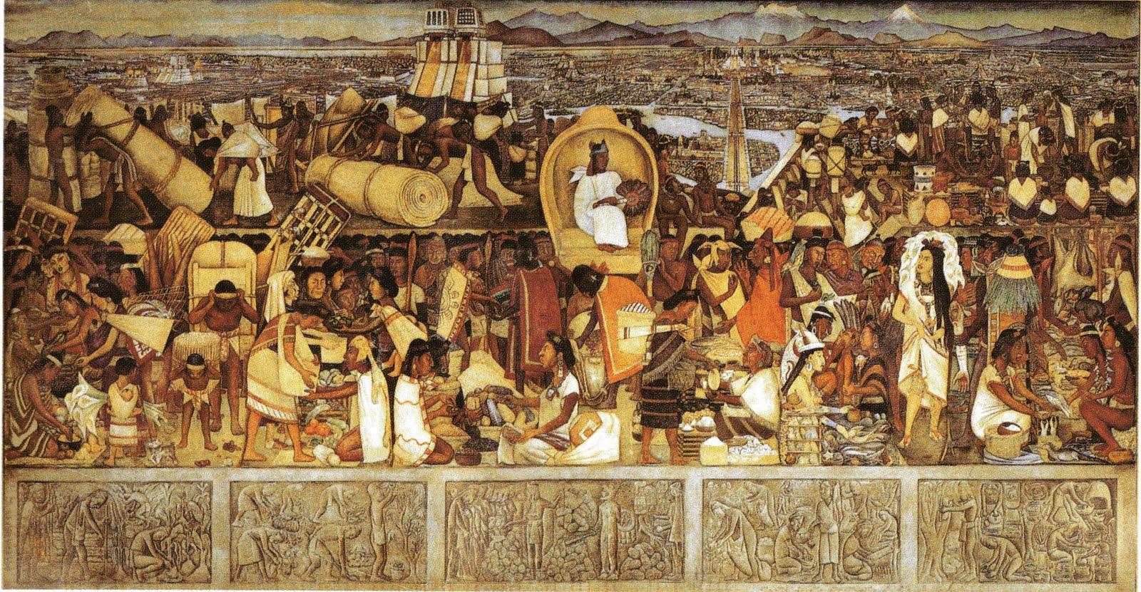 Punt volat un poema d 39 ngel pla for Diego rivera tenochtitlan mural