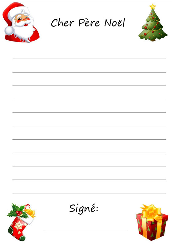 Santa Christmas Stationary Lined Free | Search Results | Calendar 2015