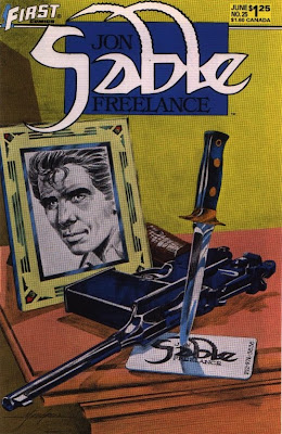 cover of Jon Sable Freelance #25 from First Comics