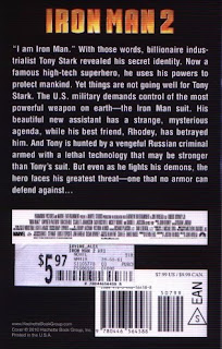 back cover of Iron Man 2 novel