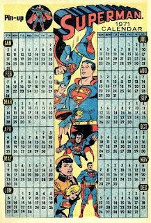 Superman 1971 calendar