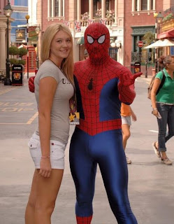 Alison Angel with Spider-Man