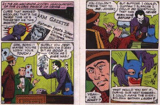 Batman in The Joker's Last Laugh mini comic pages 2 and 3