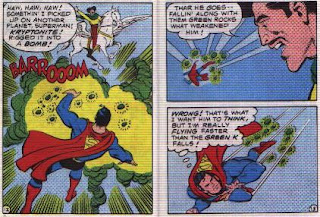 Super in Terra-Man's Skyway Robbery pages 12 and 13