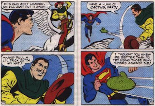 Super in Terra-Man's Skyway Robbery pages 10 and 11