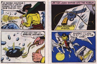 Super in Terra-Man's Skyway Robbery pages 6 and 7