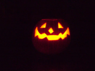 my Jack O Lantern in the dark