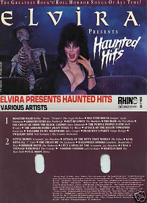 Elvira Presents Haunted Hits cassette insert
