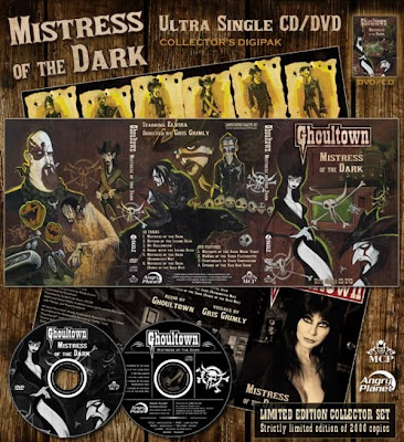 promo ad of Ghoultown's Mistress of the Dark cd/dvd