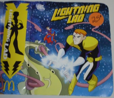 front cover of McDonald's Lightning Lad toy box