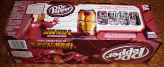 bottom of Dr Pepper Iron Man 2 box