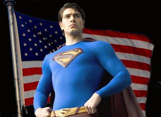Superman Returns American flag